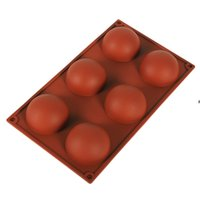 반면 실리콘 비누 금형 Bakeware 케이크 장식 도구 푸딩 젤리 초콜릿 퐁당 금형 볼 모양 비스킷 도구 HHE6571