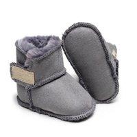 Новорожденные мальчики девушки теплые снежные сапоги дизайнерские ботинки зима детская обувь малыш младенцев первые ходунки