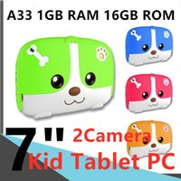 A50 Quad Core Wholesale Children Tablets For Kid Computer Networking-laptop Q718 WIFI 1GB RAM 16GB ROM Dual-Camera Android4.2 Capacitive 7inch Tablet PC Play Game