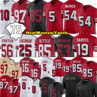 "Trey Lance Jerseys George Kittle Nick Bosa Deebo Samuel Jimmy Garoppolo Trent Williams Raheem Mostert Aiyuk 75º Patch San Men Francisco ""49ers"" Futebol"