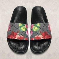 2021 hombres mujeres sandalias voltear animales animales de verano deslizamiento de moda ancho plano resbaladizo zapatilla con caja grande tamaño US5- US12