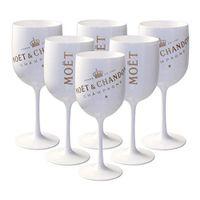 Acrílico Inscreível Champagnes Vidros Vidros 175ml Plástico Vinho-xícaras De Casamento Decoração De Casamento Branco Champagne Vidro Moet Chandon Wine-Óculos