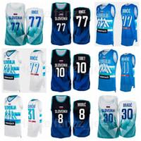 Slowenien Basketball 10 Mike Tobley Jersey 2021 Sommer Tokyo Olympiade 31 Vlatko Cancar 6 Aleksej Nikolic 15 Gregor Hrovat 27 Ziga DIMEC Nationalmannschaft Männer Kinder Frauen