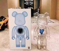 Sıcak Stil 400% 28 CM Bearbrick Kalpleri Moda Ayı Rakamlar Oyuncak Koleksiyonerler Için @ Rbrick Sanat Çalışma Modeli Dekorasyon Oyuncaklar