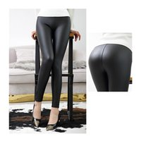 Women's Leggings Everbellus High Waist Leather For Women Black Light&MaThin&Thick Femme Fitness PU Sexy Push Up Slim Pants