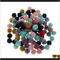 100 Pieces Assorted Size Pompom Ball Embellishment For Wedding Dress Dance Costume Diy Shoes Bags Key Ring Hat Hair Accessories M1K9F Nj5Wl