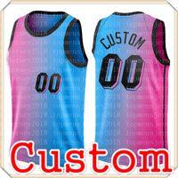 Розовый пользовательский джерси Удонис 40 HASLEM ALONZO 33 траур Kelly 9 Olynyk трикотажные изделия Любовное название Баскетбол S-XXL 13 Adebayo