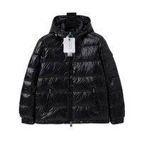 New Winter Mens down jacket, close-fitting fur coat with hat