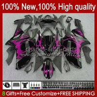 Body Kit For KAWASAKI NINJA ZX 6R 600 CC 600CC 6 R ZX-600 2007 2008 Bodywork 10No.109 ZX-636 ZX600C ZX636 07-08 ZX-6R ZX 636 ZX600 ZX6R 07 08 Motorcycle Fairing pink flames