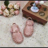 Baby, Kinder Mutterschaft Drop Lieferung 2021 Mini Melissa Slide Sandal Mädchen Gelee Sommer Roma Kinder Strand Jungen Schuhe Kleinkind Candy Sandalen HMI