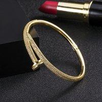 Lover Bracelets For Women 18k Gold Plated Love Bangle Bracelet Full Diamond Bracelet Jewelry For Women