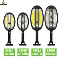 Lampada solare 96cob 138cob 66led 100led Outdoor PIR Motion Sensor Sensor Light IP65 Impermeabile Street Garden Telecomando