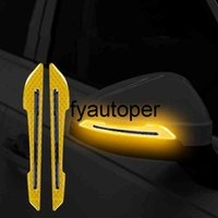 2PCS Carbon Fiber Car rearview mirror Reflective Strips Car Paint Protector Auto Truck Motorcycle Safety Sticker Warning Sticker