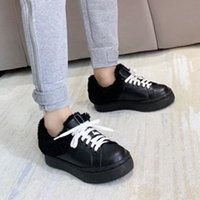 Boots 2021 Winter Women Casual Shoes Plus Wool Lace Up Thick Bottom Platform Designer Sneakers Genuine Leather