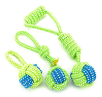 Chews Pet Supplies Home & Gardenpet Supply Toys Dogs Chew Teeth Clean Outdoor Traning Fun Playing Green Rope Ball Toy For Large Small Dog Ca
