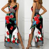 2019 Женщины Bodycon Повседневная Без Рукавов Флористическое Платье Boho Вечерние Вечерние Коктейльные платья