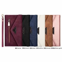 Samsung A41 S20 envelope wallet slanting across mobile phone a21s card A81 leather case anti falling