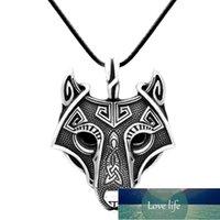Antique Silver Color Norse Vikings Pendentif Collier pour Femmes Men Norse Wolf Head Colliers Original Animal Bijoux Cadeaux A218 Prix d'usine Expert Design Qualité