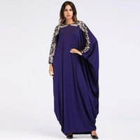 Ethnic Clothing Muslim Dress Women Fashion Dubai Bat Sleeve Gown Plus Size Abaya Turkey Long Dresses