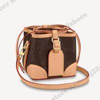 NOE Mini bolsa Etiqueta de equipaje Bolsos Crossbody Bolsos de cordón Cierre de cartera Diseñador Bolsos M57099 NOE Bolso