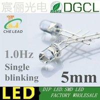 Lampor 1.0hz Enkel blinkande 5mm Ljus LED-lampor 60 gånger / min Varm vit / Röd / Grön / Blå / Gul / Vit / Rosa LED Lampa Flash Lighting