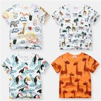 Inpepnow Summer Children Ropa para niños Camiseta de algodón Dinosaurio Manga corta Niños Tshirts Boy Casual Linda camiseta 2-10Y DX-CZX279 1162 Y2