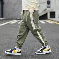 Hip Hop Kids Boys Sports Pants Ribbon Cargo Harem Autumn Cotton Trousers Children's Clothing 3 To 13 Years Sweatpants