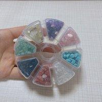 Objetos decorativos Figurinos esmagados rocha conjunto de pedras cristal naturais mini irregular 8 cores vários cristais de quartzo gemtone caiu ch