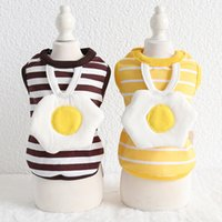 Striped poached egg vest, pet clothes, Dog Apparel, cute spring and summer vests