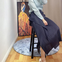 Юбки Changpleat 2021 Летние Женщины Нерегулярная Юбка Мияк Слиссированная Мода Личность Средства Большой Размер Эластичная Талия Женщина