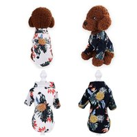 Dog Apparel 1Pcs Pet Shirts Puppy Buttons Sleepwear Pajamas Clothes Cute Sweet Clothing Costume
