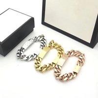 3 colori oro amore braccialetto moda unisex uomini donne braccialetti di fascino di alta qualità rifornimento catena in acciaio inox