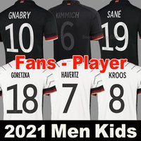 2021 독일 축구 유니폼 팬 선수 버전 한정판 멀리 검은 밖으로 멀리있는 웨이 터 헤 아니아 인 햄드 축구 셔츠 20 21 Goretzka 남성 여성 + 키즈 키트