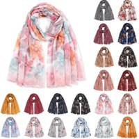 Scarves Women Thin Beach Sunscreen Scarf Shawls Lady Fashion Leopard Flowers Printed Wrap Silk Shawl Travel Accessories