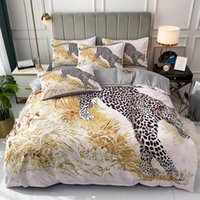 fashion queen king designer bedding sets luxury leopard print duvet cover bed sheet Pillowcases high quality Comforters Set