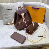 Designer Mode Frau Umhängetaschen Three-teile Totes Handtasche Echtes Leder Klassisches Muster Design Super Große Kapazität Hochwertige Geschenke 001
