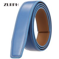 ZLRPH High Quality Men's Genuine Leather Belt Automatic Buckle Waist Strap Business Male 3.5 CM Width