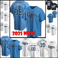 2021 # 39 Kevin Kiermaier Jersey Tampa Bay 12 Wade Boggs 5 Wander Franco Willy Adays Anderson Randy Arozarena Personalizada Personalizado Qualquer nome Baseball Jerseys