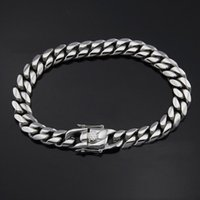Link, Chain 6 8 10 12 14 16 18mm Hip Hop Bracelets High Polish Gold Chains MIami Cuban Men Women Punk Curb Bangle Double Safety Clasps
