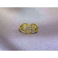 Outlet Emma 925 Sterling Silver pig nose female H letter simple chain lock ring