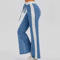 Plus Size Mulheres Long Calças Loose Largura Lace-Up Running Sport Yaga Calças Casuais Streetwear Sportwear Capris das Mulheres