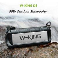 IPX6 Waterproof W-King D8 TWS Bluetooth HIFI Speakers Outdoor 50W High Power Wireless Subwoofer 360 Surround Sound 10000 mAh Battery U disk Play Power Bank