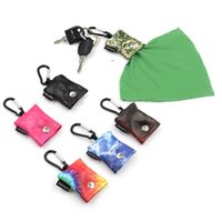 6 Colors Portable Glasses Keychains Pendant Fashion Printing Keychain Hanging Bag Carabiner Mobile Phone Screen Cleaning Cloths OWF7843