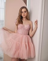 Sweetheart Homecoming Dresses with Feathers One Shoulder Graduation Party Gowns Zipper Back Short Tulle Prom Dress