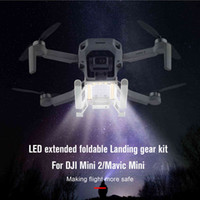 UAV Mini 2 Landing Gear Foldable LED Lamp Light Landing Skid Kit Extended Expansion For DJI Mavic MIni   Mini 2 Drone Accessories Q0602