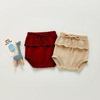 ZHBB INS Korean Sustralia Baby Girls Knitted Sweaters Straps Shorts Newborn Spring Winter Toddler Clothes
