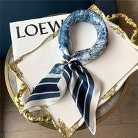 2021 Top Designer donna in seta moda lettera fascia marchio piccolo sciarpa vera variabile accessori accessori regalo di attività w14