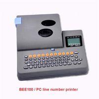 Printers BEE100 Line Number Printer Machine Heat Shrink Tube PVC Casing, 35mm   Sec Print Speed 12V