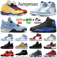 Yeni jumpman erkekler basketbol ayakkabıları 1s Üniversite Mavi 11s Concord 12s Hyper Royal 13s Ateş Kırmızısı 4s 5s bayan erkek eğitmenler Spor Sneakers