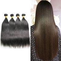 Brazilian Peruvian Maylasian Silky Straight 4 Bundles Queen Beauty 10A Unprocessed Virgin Pure Extension Human Hair Weave Bundle 8-30inch